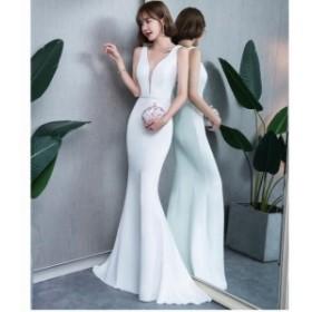 パーティードレス ロングドレス 結婚式 二次会 衣装 舞台 披露宴 演奏会 発表会 ピアノ 大きいサイズイベント マーメイドドレス セクシー