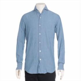 フィナモレ コットン Tシャツ 15/38 メンズ ブルー