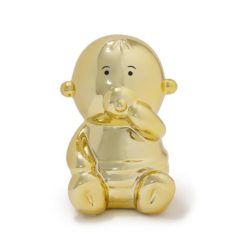 閃光寶寶存錢筒 - 金色