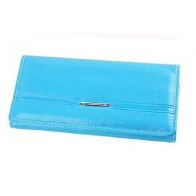 財布 レディース おしゃれな 綺麗な 本革 女性用 長財布 多機能 さん入り使い易い 小銭入れ プレゼントに最適 (ブルー)