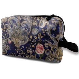 ペルシャ帝国とバラ 化粧品袋 トラベルコスメティックバッグ 防水 大容量 荷物タグ付き 旅行収納ポーチ アレンジケース パッキングオーガナイザー 出張 旅行 衣類収納袋 スーツケース整理 インナーバッグ メッシュポーチ 収納ポーチ
