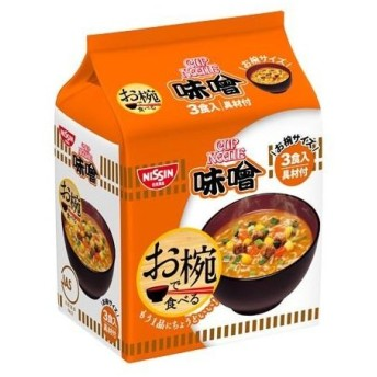 日清食品 お椀で食べるカップヌードル 味噌3食 102G×9個セット