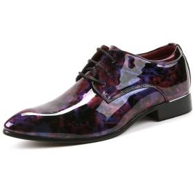 [LWSJP] ビジネスシューズ メンズ 紳士靴 フォーマル カジュアル フォーマル ビジネス オックス フォードドレ スシューズ (Color : ワイン, サイズ : 6.5MUS)