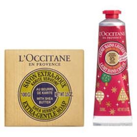 【数量限定】L'OCCITANE (ロクシタン) フェスティブガーデン スノーシア メルシーキット(化粧石けん+ハンドクリーム)