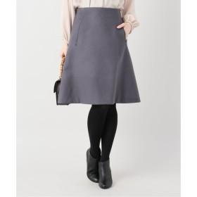 【ラ トータリテ/La Totalite】 カラーウール台形スカート◆