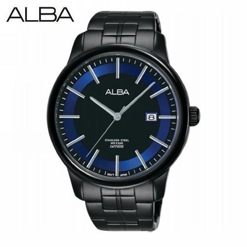 ALBA AS9D91X1《三針日期男款 藍寶石水晶防刮鏡面》42mm/IP黑x紫/SEIKO公司貨【第一鐘錶】
