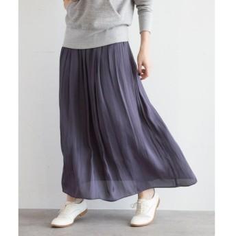 aquagirl / アクアガール マイクロサテンヴィンテージ風スカート