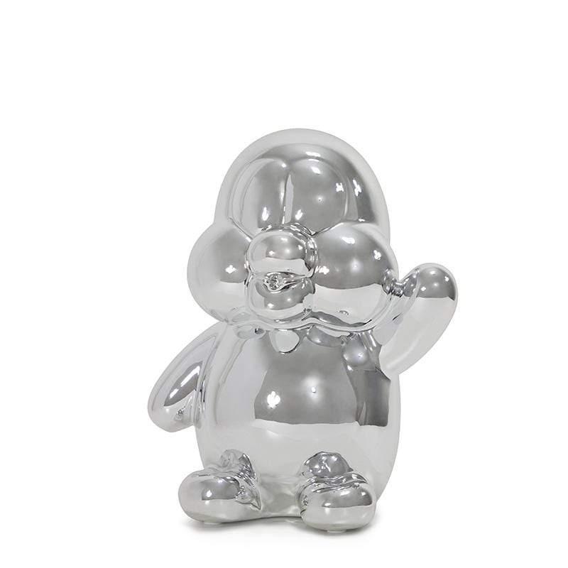 閃光企鵝存錢筒 - 銀色