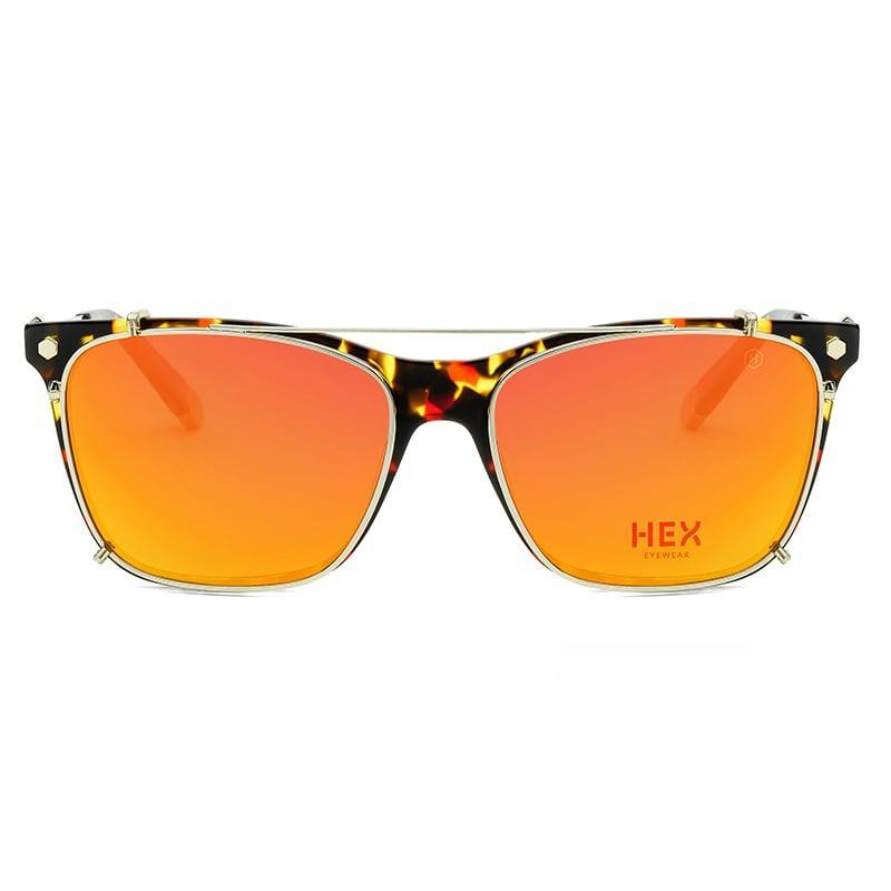 Ellenby 開拓者|劃時代新板料眼鏡|義大利超輕薄配前掛墨鏡 - 黑紅啡花色 HEXETATE - 黑紅啡花色