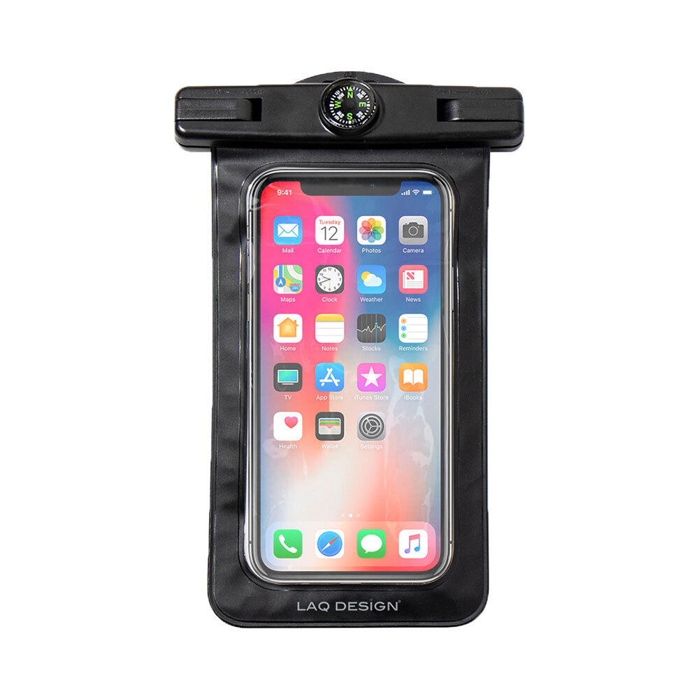 laq design 指北針多功能智慧手機防水袋-黑色