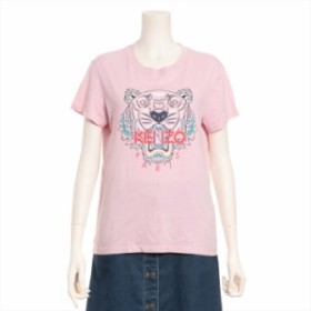 ケンゾー コットン Tシャツ M レディース ピンク タイガー