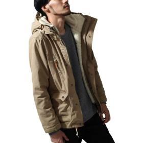 ZIP FIVE マウンテンパーカー メンズ ジャケット アウター ブルゾン ボア 無地 3WAY マンパー コットン マウンパ ファッション 161901br 4BEIGE XL
