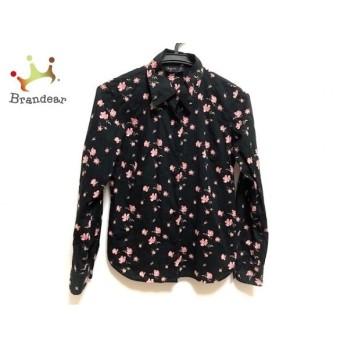 アニエスベー agnes b 長袖シャツブラウス レディース 美品 黒×レッド×グリーン 花柄   スペシャル特価 20200201