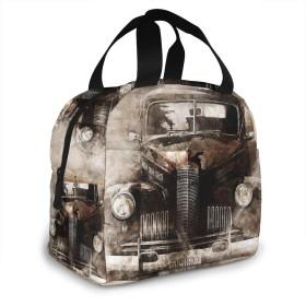保冷バッグ エコバッグ ランチバッグ 買い物バッグ 古典的な 自動 自動車 トランスポート 手提げバッグ おしゃれ 保冷保温