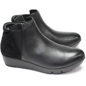 [リーガル] REGAL Walker 靴 レディース ブーツ HB88 本革 厚底 サイドゴア シューズ リーガルウォーカー ブラック(BL) 24.0cm
