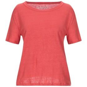《セール開催中》OTTOD'AME レディース T シャツ 赤茶色 44 麻 96% / ポリウレタン 4%