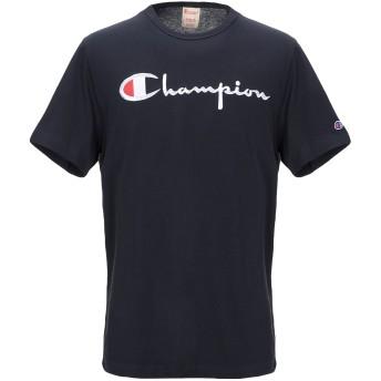 《セール開催中》CHAMPION メンズ T シャツ ダークブルー S コットン 100%