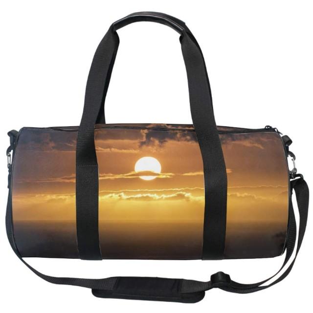 ボストンバッグ 一泊二日 旅行 レディース 鞄 大きめ ハワイサンセットオーシャンビーチスカイ