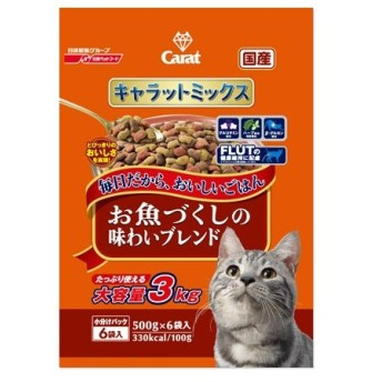 日清ペットフード Nisshin Pet Food キャラットミックス お魚づくしの味わいブレンド 3kg