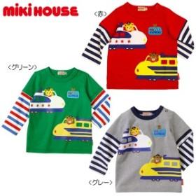 ミキハウス正規販売店/ミキハウス mikihouse 新幹線プッチー☆重ね着風長袖Tシャツ(70cm・80cm・90cm)