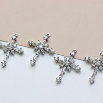 銅メッキ素材 秋と冬のモデル雪メッキ銅18 K真の金ジルコンクロスペンダントシルバーパラグラフ1に