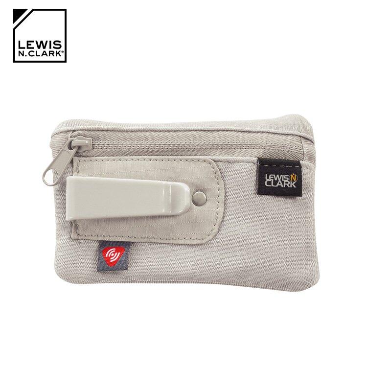 Lewis N. Clark RFID屏蔽扣夾零錢包 1234 / 城市綠洲 (防盜錄、錢包、腰包、旅遊配件、美國品牌)