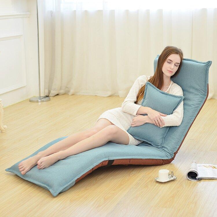 懶人沙發可折疊單人床榻榻米陽臺飄窗臥室布藝地板-