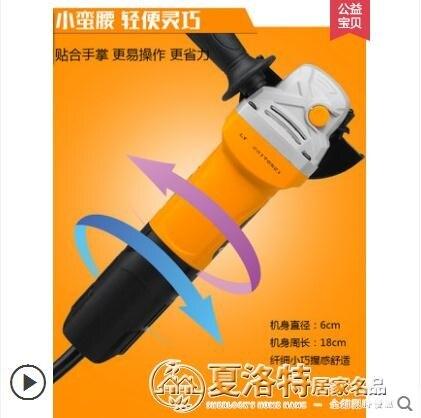 美國雷亞多功能家用磨光機手磨機拋光機打磨機切割機角磨機手砂輪220v