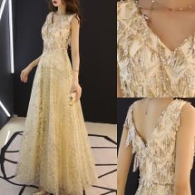 結婚式 ドレス パーティードレス お呼ばれ ワンピース ローブデコルテ キラキラ スパンコール 謝恩会 20代 30代 40代 コージャス
