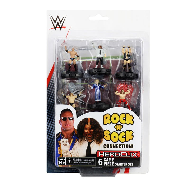 反轉英雄 WWE 美國職業摔角 the Rock 'n' Sock 起始盒 HEROCLIX 高雄龐奇桌遊
