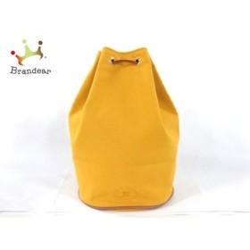 エルメス HERMES ワンショルダーバッグ ポロションミミル イエロー×ブラウン 巾着型/ミニサイズ  値下げ 20191128