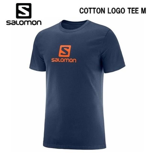 SALOMON 18FW COTTON LOGO SS TEE M サロモン Tシャツ メンズ L40355100 NIGHT SKY アウトドア