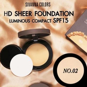 SIVANNA HF-2006 夏日絕對立體光亮粉餅  02白亮享艷
