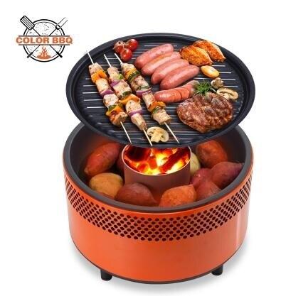 燒烤爐木炭燒烤爐烤架家用便攜戶外烤肉防風無煙碳炭烤爐子
