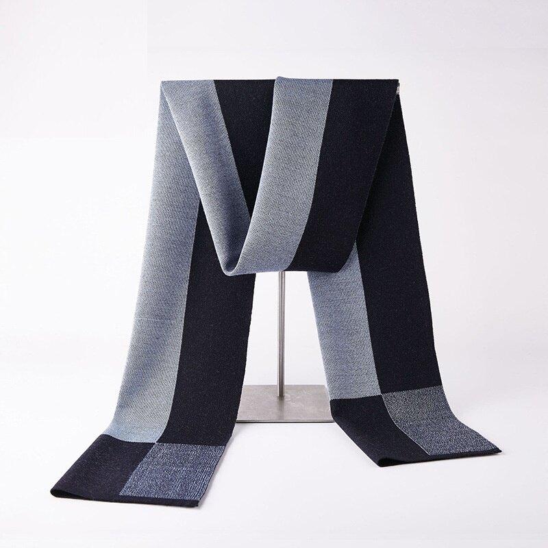 圍巾針織披肩-拼色方格提花羊毛男配件3色73wi11【獨家進口】【米蘭精品】