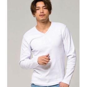 (SILVER BULLET/シルバーバレット)CavariA【キャバリア】ネックが選べるスパンテレコ長袖Tシャツ/メンズ ホワイト系2