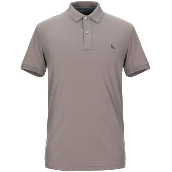 《セール開催中》GRAN SASSO メンズ ポロシャツ カーキ 46 コットン 90% / ポリウレタン 10%