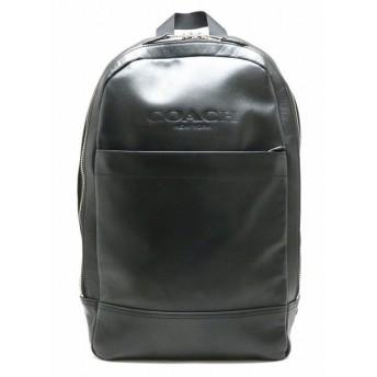 COACH コーチ リュック リュックサック バックパック ショルダーバッグ レザー 黒 ブラック メンズ F54135 (中古)(s)