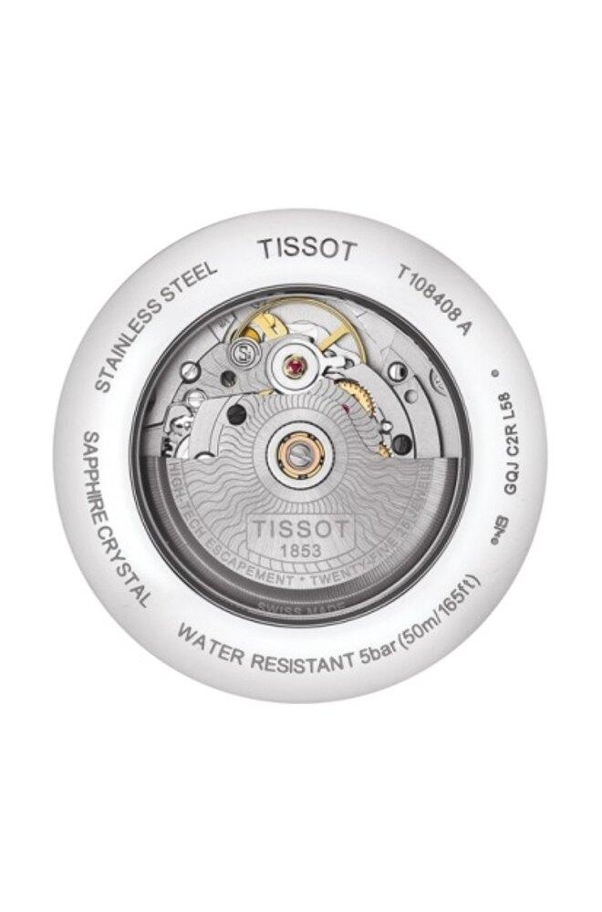 TISSOT BALLADE寶環矽游絲自動機械錶-T1084081103700-41mm