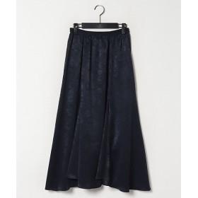 <LAUTREAMONT/ロートレアモン> スウェーディサテンスカート ネービーブルー【三越・伊勢丹/公式】