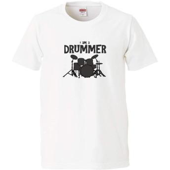 【IdentiT】 the DRUMMER Tシャツ ドラムnew (L, ホワイト)