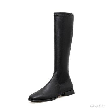 長靴女新款靴子不過膝長筒靴皮靴中筒騎士靴平底鞋高筒靴冬季  koko時裝店 全館八八折