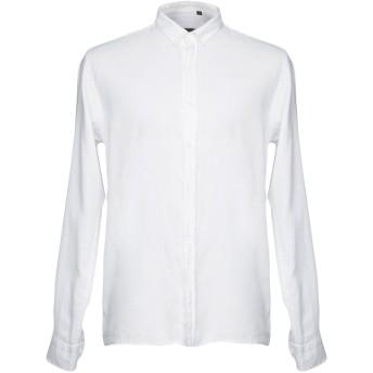 《セール開催中》LABORATORI ITALIANI メンズ シャツ ホワイト L コットン 100%