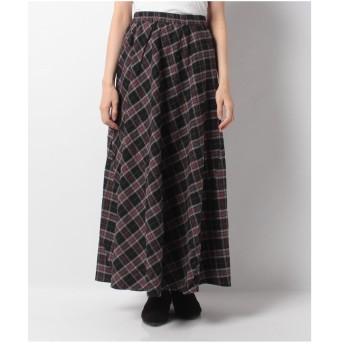 Ranan サイド切替マキシスカート(ブラック)