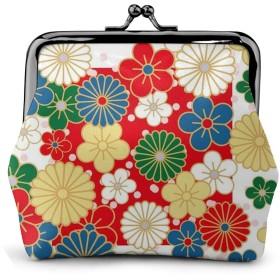 コインケース 色とりどりの花がたくさん 財布 小銭入れ レディース可愛い ミニ化粧ポーチ