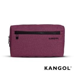 【KANGOL】韓國經典側背休閒包/學生包/情侶包(混織桃 KG1152-69)