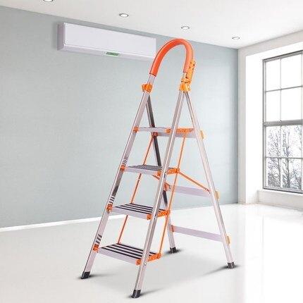 鋁梯不銹鋼梯子家用折疊鋁合金多功能扶梯加厚加固伸縮便攜室內人字梯