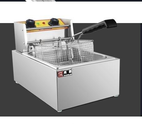 尚聯電炸爐商用單缸12L大容量電炸鍋油炸爐油炸機炸雞排油條機