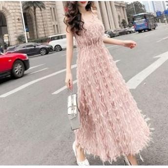 バッククロス ストラップドレス ワンピースドレス オープンバック バックシャン Vネック ロング パーティードレス Aライン エレガント フェミニン セクシー イベント お呼ばれ 3色展開 ホワイト/