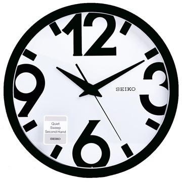 【SEIKO】藝術設計風 滑動式秒針 靜音 時鐘 掛鐘-31.1cm(QXA476A)